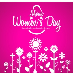March 8 greeting card Background for Womans Day vector image