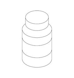 Medicine bottle icon isometric 3d style vector image