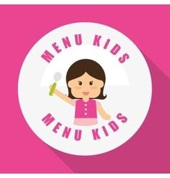 Menu Kids icon design vector