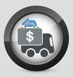 money van transfer vector image