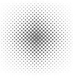 Monochrome geometrical stylized flower pattern - vector