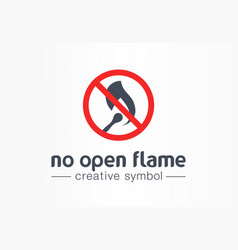 no open flame creative symbol concept warning vector image