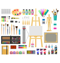 paint art tools artistic supplies painting vector image