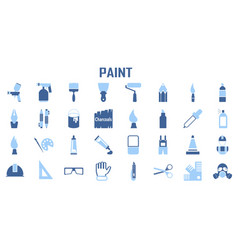paint craft handmade flat icons mono symbol vector image