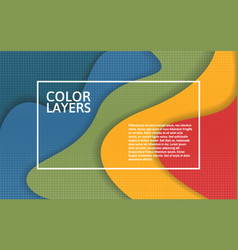 papercut color layers colorful multi layer vector image