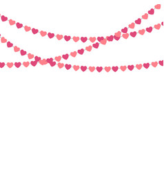 party background with heart shape confetti vector image