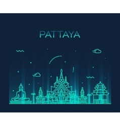 Pattaya Trendy linear style vector image