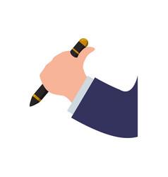 Pen ballpoint office vector