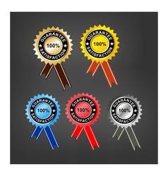 premium satisfaction guarantee label vector image