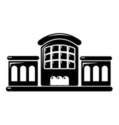 railway station icon simple style vector image