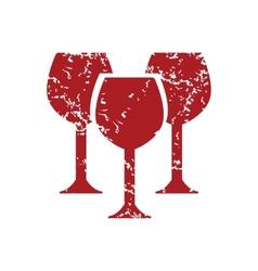 Red grunge stemware logo vector