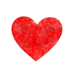 Red heart abstract vector