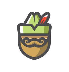 Robin hood robber icon cartoon vector