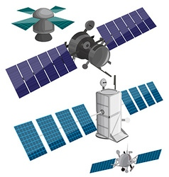 Satellite set vector image