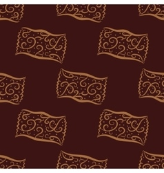 Seamless pattern from hand drawn curl candies vector