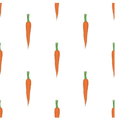 Seamless pattern with orange carrots vector
