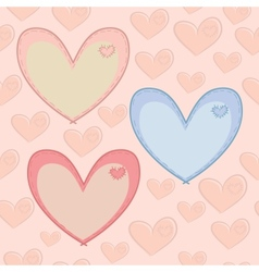 Seamless Valentines Day pattern with hearts with vector image
