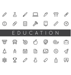 set of education icons can be used as logo or vector image