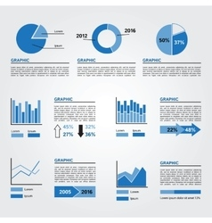 Set of Infographics Elements Blue Colors vector image