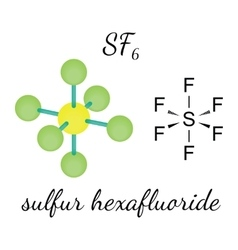 SF6 sulfur hexafluoride molecule vector