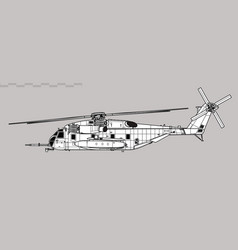 Sikorsky ch-53e super stallion vector