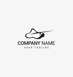 silhouette manta logo vector image