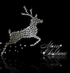 Silver christmas deer vector