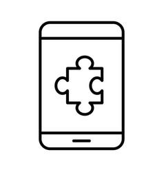 simple monochrome icon mobile application vector image