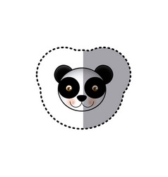 Small sticker colorful picture face cute panda vector