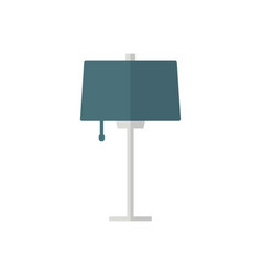 table lamp flat iconfurniture and apartment logo vector image