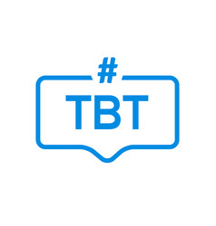 Tbt hashtag thursdat throwback symbol message vector