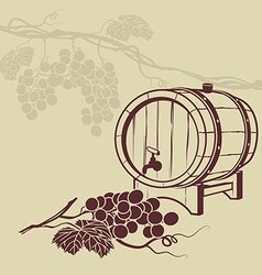 Template background for menu with a barrel of wine vector