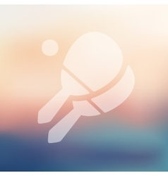 Tennis icon on blurred background vector