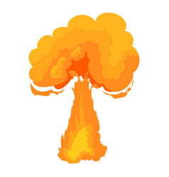 Terrible explosion icon cartoon style vector