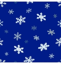 The falling snowflakes Seamless background vector