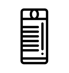 tourist campfire lighter icon outline vector image