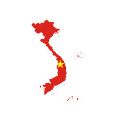 Vietnam flag and map vector
