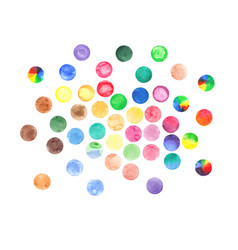 Watercolor circles set vector