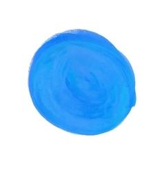 Watercolor round spot blue vector