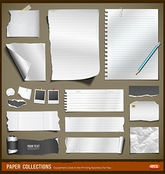 White paper and black paper collections vector image