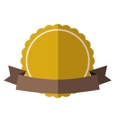Yellow vintage badge vector image