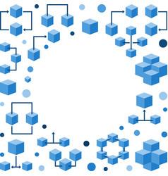 block chain technology frame modern vector image
