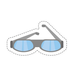 cartoon glasses eye protect modern icon vector image vector image
