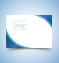 flyer template wave design 4 vector image vector image