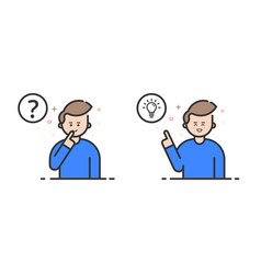 in flat outline style and blue vector image vector image