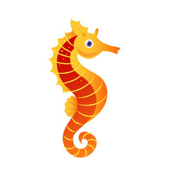 seahorse or hippocampus sea creature colorful vector image vector image