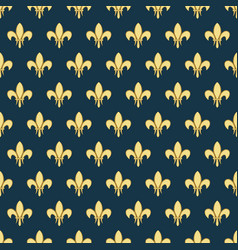 seamless pattern with a gold royal lily called a vector image