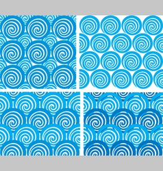 seamless pattern with waves vector image