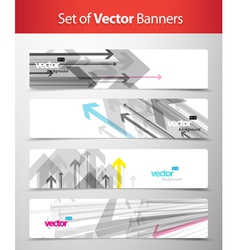 Set of abstract web banners vector image vector image