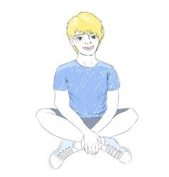 teenager boy vector image